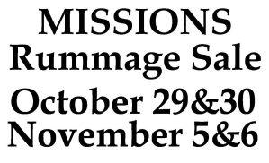 Mission Rummage Sale