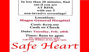 Safe Heart Screenings @ Magee General Hospital  | Magee | Mississippi | United States