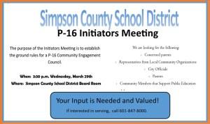 SCSD P-16 Meeting
