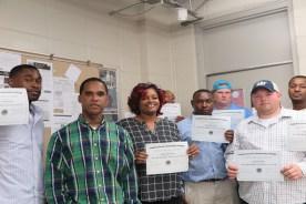 Seven students complete Welding program and receive certifications