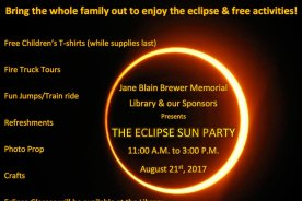 Eclipse Sun Party @ Jane Blain Brewer Memorial Library of…
