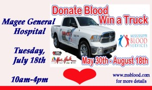 MGH BLOOD DRIVE @ MGH BLOOD DRIVE   Magee   Mississippi   United States