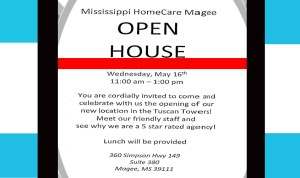 MS HomeCare Magee Open House @ magee tuscan towers clinic | Magee | Mississippi | United States