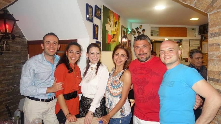"""С Кристина Мадейра в ресторант """"Esquina de Alfama"""", Лисабон"""