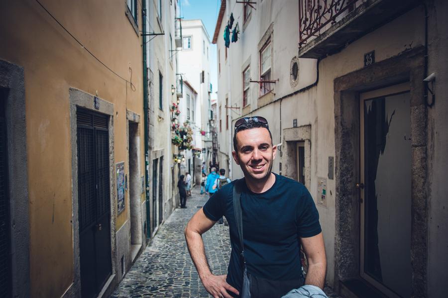 По улиците на Лисабон, Португалия
