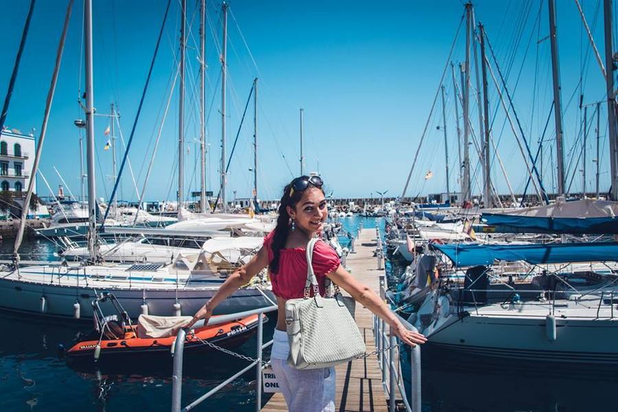 Пристанището на Пуерто де Моган.