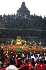 Vesak celebration, in Borobudur temple, Magelang Regency. Image taken on Friday, May 28, 2010.
