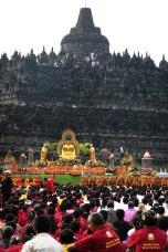 Vesak celebration, in Borobudur temple, Magelang Regency. Image taken on Friday, May 28, 2010.