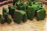Banana leaves are used to wrap several kinds of cakes.