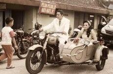 Bride Groom Vintage Ariel Motorcycle Magelang News