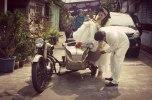 Bride Groom Vintage Ariel Motorcycle MagelangImages