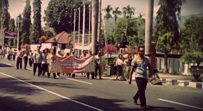 Pilbup Magelang, 532 Panwas Gelar Long March