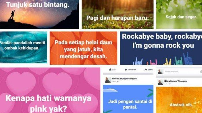 Status Facebook Pakai Background Gambar. Begini Cara Membuatnya