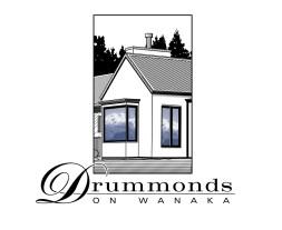 Drummonds on Wanaka logo. Image and type logo, and logotype. Brands for New Zealand businesses, Wanaka.