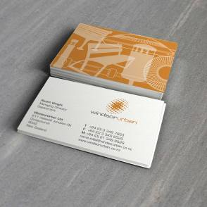 Windsor Urban business cards, MagentaDot Brands renamed and rebranded the company for growth, 2 colour design, printed front and back of card, Brand and identity systems design, Typography, Print production, digital print, Manufacturing, Christchurch, New Zealand