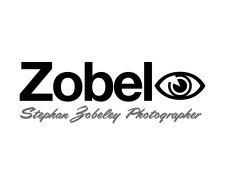 """Zobeley: Stephan Zobeley Photographer logo / rebus puzzle, the third syllable in Zobeley """"ey"""" is represented by a picture of an """"eye"""". This visual double-entendre is also an effective way to ensure the client's name is correctly pronounced as """"Zobeleye"""". Christchurch, New Zealand. Brands for New Zealand and international companies."""