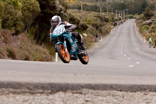 Bluff HIll Climb, Honda NSR 150, Motupohue, New Zealand, NZ Hill Climb Champs, Rider 27, Stephen Winteringham