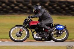 Bruce Aitken, Burt Munro Challenge, Classic Pre '63 with Girder Forks, Rider 238, Teretonga Circuit races, Triumph T80 350