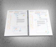 Windsor Urban brand use document stationery specifications spread.