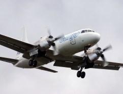 Pionair Australia Convair VH-PDW landing at Launceston, Tasmania, Australia