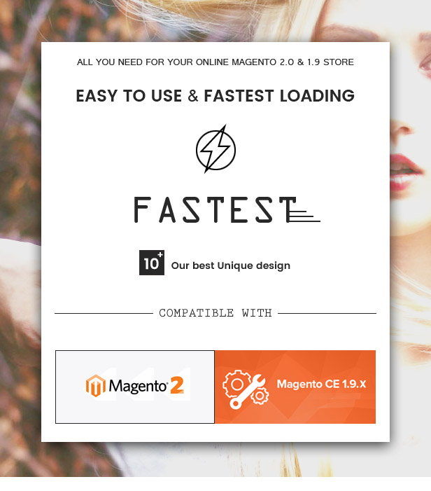 Fastest - Magento 2 & 1.9 with 10 Unique Homepages - Welcome