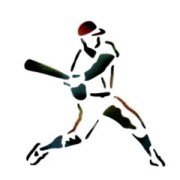 baseball player - stencil dinair