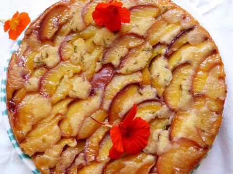 gestürzter nektarinenkuchen