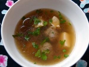 suppe mit eiertofu