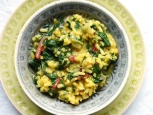 mangold-risotto mit safran