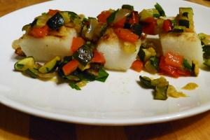 gegrillte polenta mit salsa