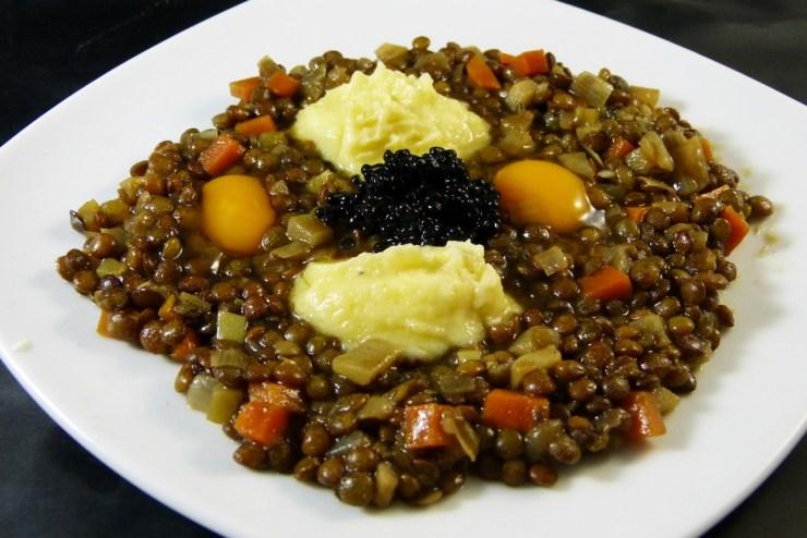 alb-leisa mit kartoffelcrème