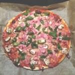 Pizza mit Eiweiß