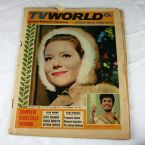 Diana Rigg as The Avengers' Mrs Peel on the cover of TV World in 1965