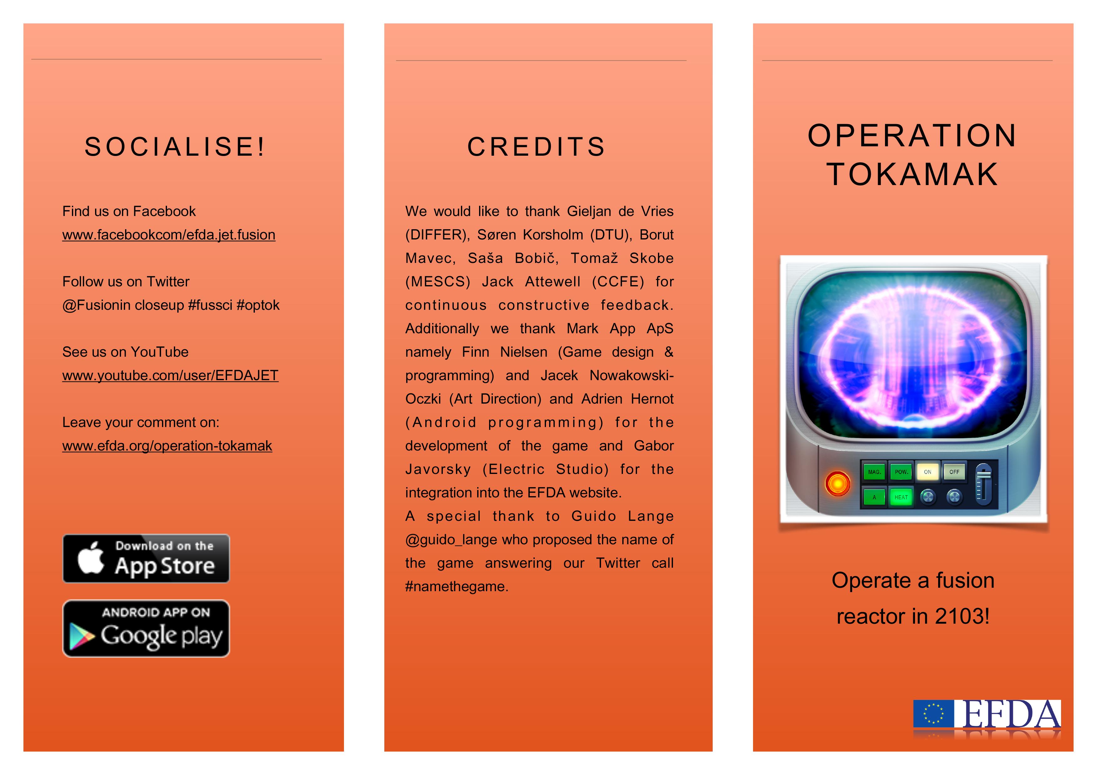 Itt az új fúziós játék az Operation Tokamak! Legyél Te az operátor!