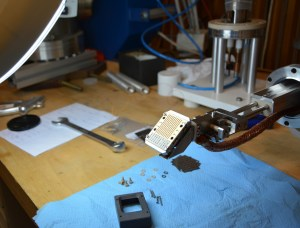 ABP detector assembling in the lab at Wigner