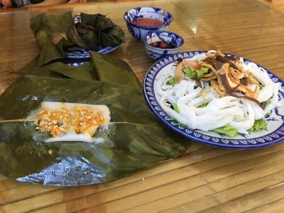 Banh loc, Banh nam, and stir fried pho