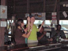 BELIZE- Bar games w/ the locals