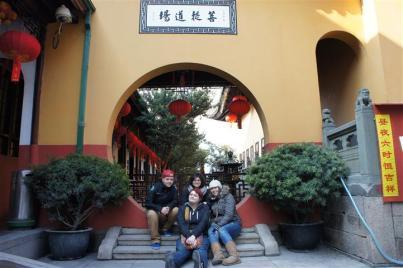 SHANGHAI- Group shot, Jade Buddha Temple