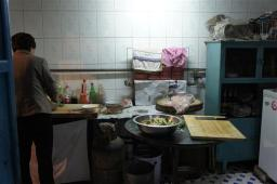 The kitchen at homestay