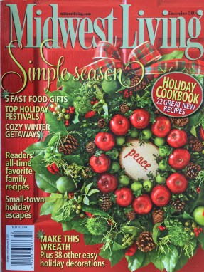 Midwest Living Magazine Christmas Cover Stories