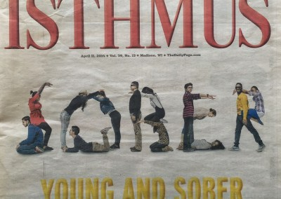 Young and Sober Isthmus Cover Story on Collegiate Recovery