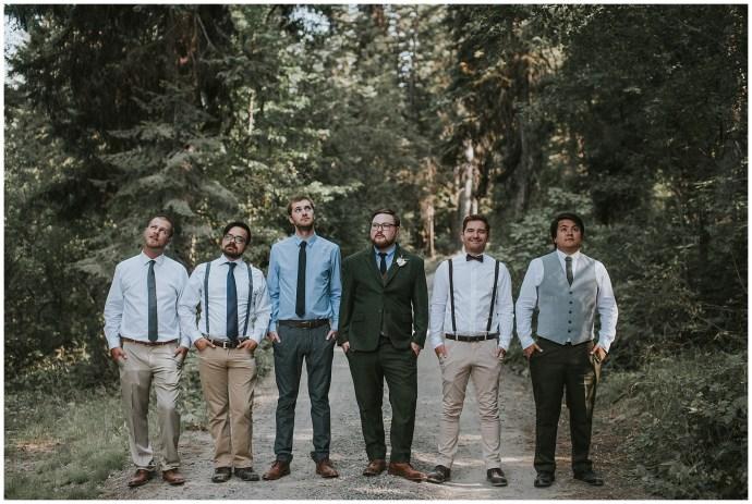 mismatched boho groomsmen