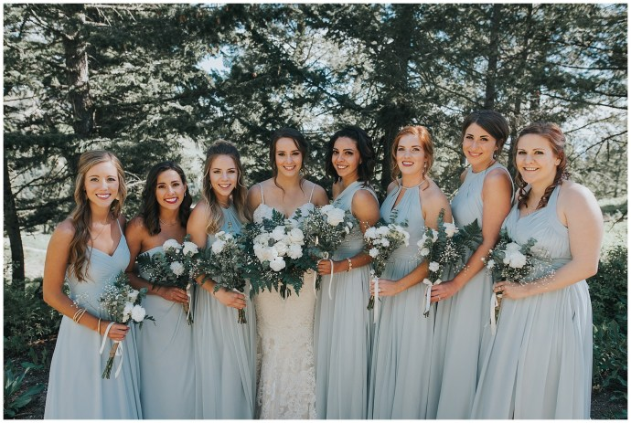 Bridesmaids Baby Blue Wedding