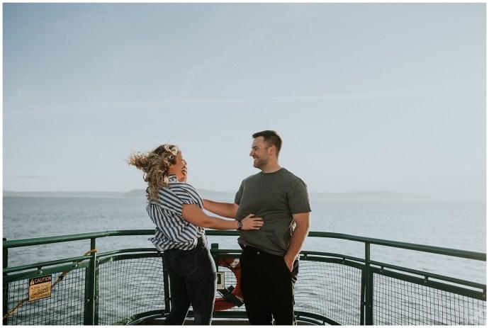 Washington Ferry Engagement Session