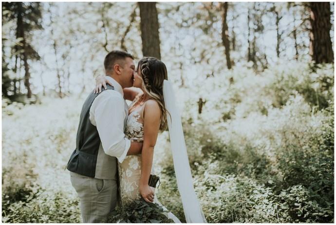 Boho wedding on Moscow Mountain in Idaho