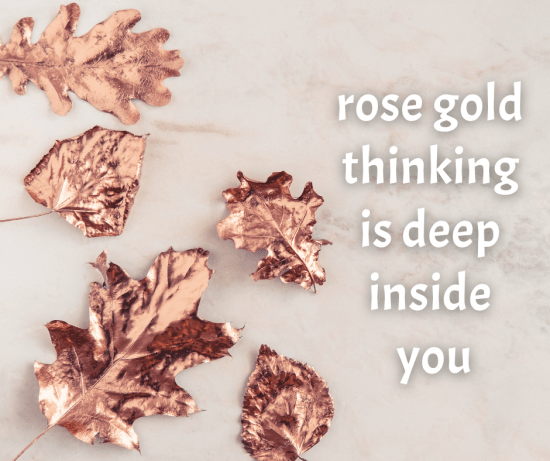 rose gold leaves