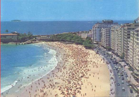 Praia Vermelha, Urca, one of our various sleeping venues, 1970.