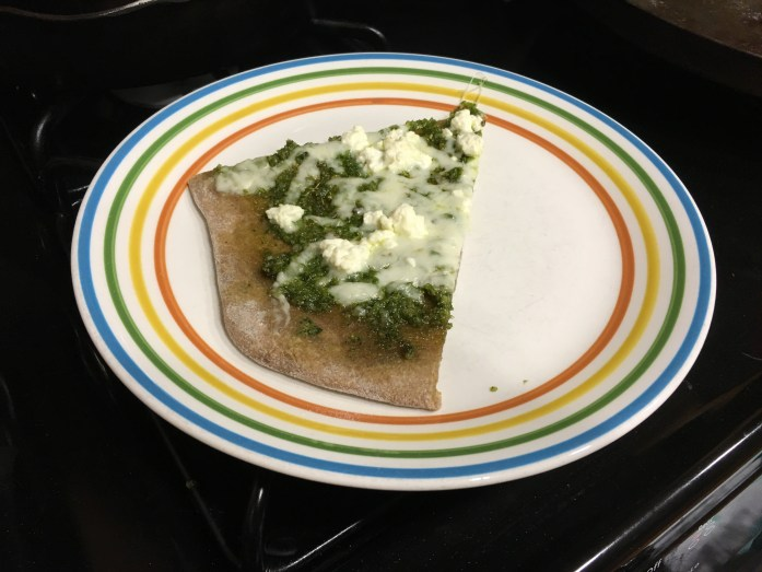 Mustard Green Pesto pizza