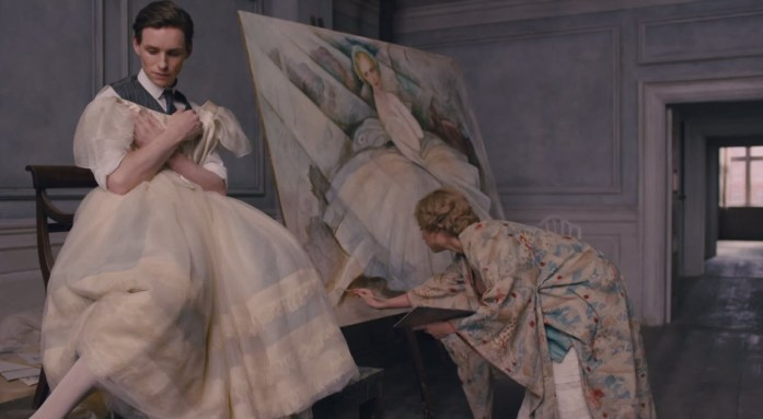 """Einar poses while Gerda paints - from """"The Danish Girl"""""""