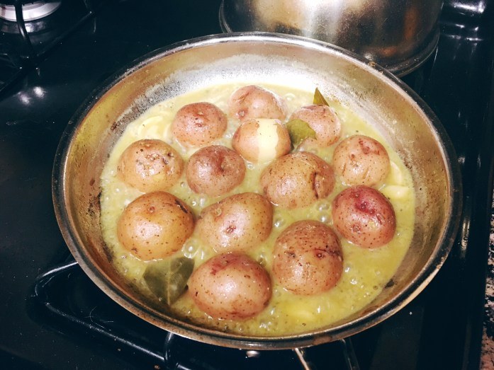 Simmering Potatoes
